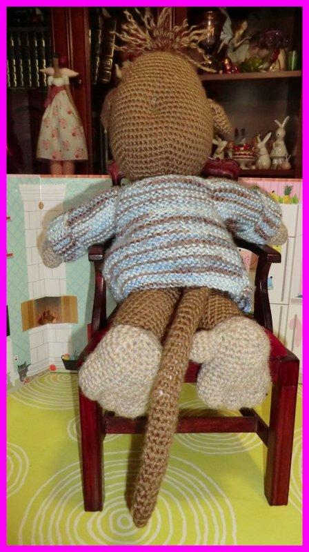MONKEY, mon petit singe au crochet créé par ma fille Marlène