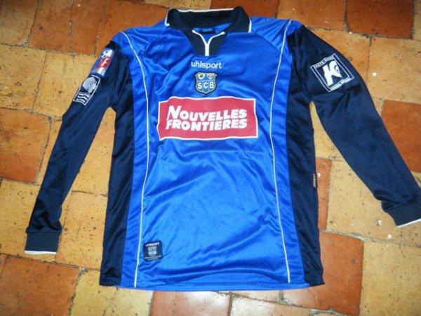 Maillot porté Bastia Frédéric Née saison 2000 2001 (ancien joueur de Lyon et Caen).