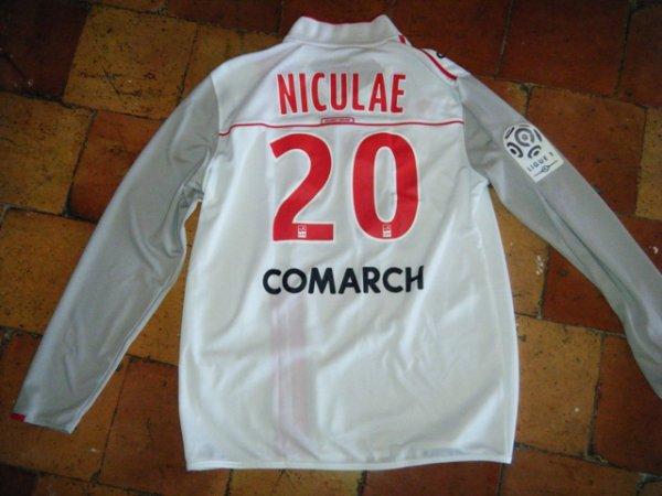 Maillot porte Niculae saison 2011 2012 (ancien joueur Monaco et Auxerre)