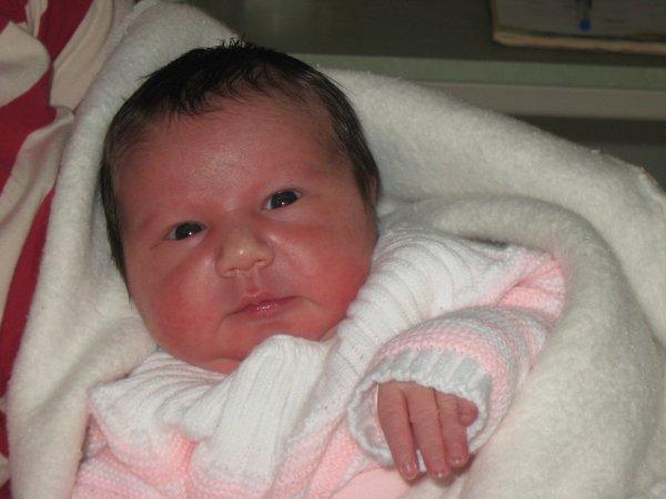 Naissance de ma filleule,Photo a la maternité