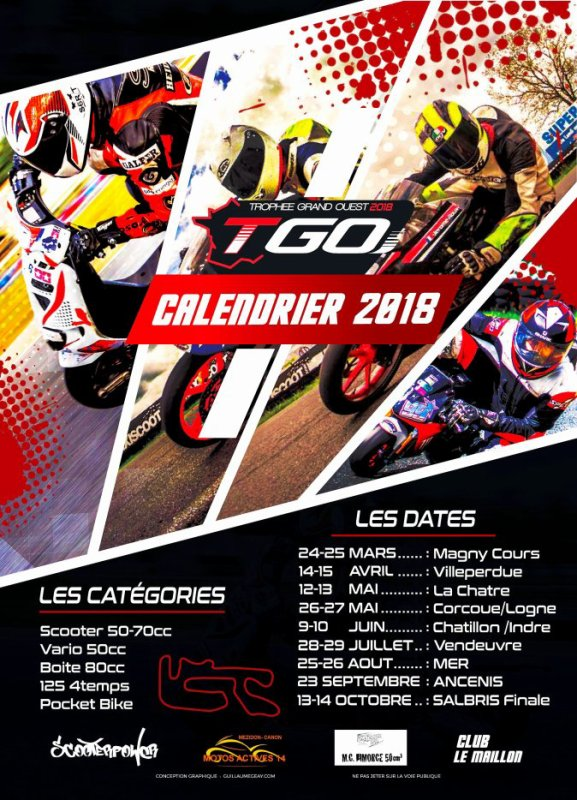 COOL  CALENDRIER 2018