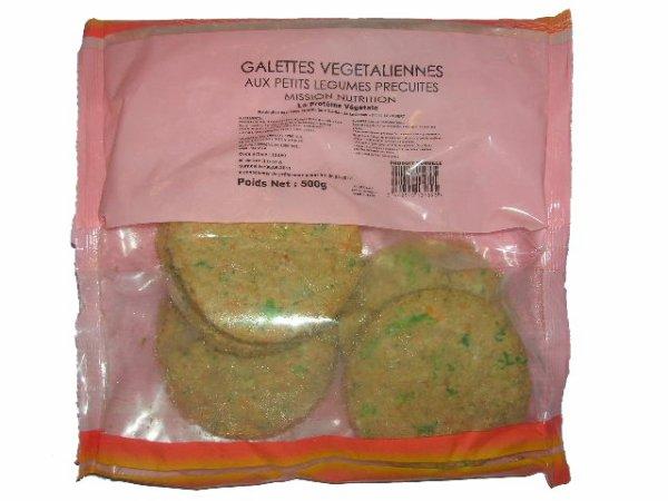Galettes végétaliennes petis pois ( Mission Nutrition )