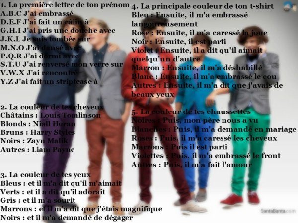 Ta phrase One direction sa donne quoi ?