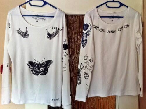 Tee shirt avec les tatoo de Harry et Louis tu l'aurait acheter ?