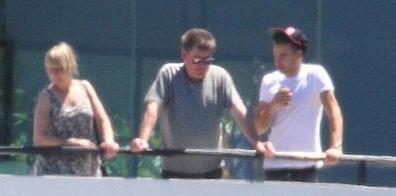 Liam (à la villa) avec ses parents