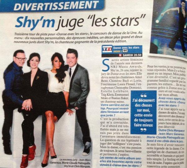"""Shym et Sandrine Quétier+""""Télé Cable Sat""""+ """"Danse Avec Les Stars""""!! Dans le même article!"""