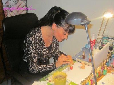 petite photos souvenir de ma formation en nail art chez yana : ))))