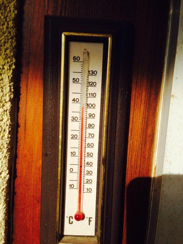 Un rayon de soleil et la serre chauffe