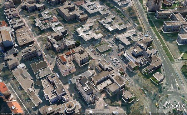 A1281 vue satellite de l 39 h pital de grange blanche - Hopital edouard herriot grange blanche ...