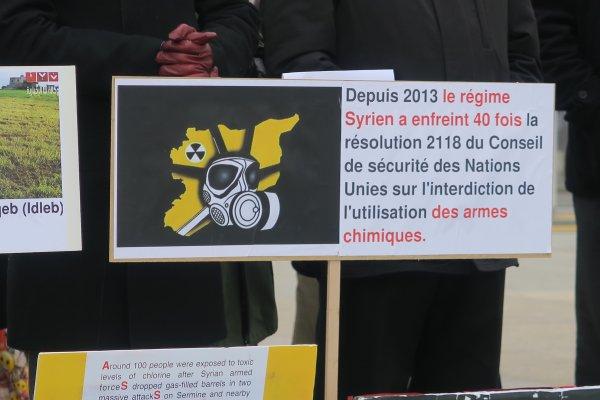 A2092 : Devant l'ONU à Genève, contre les massacres en Syrie