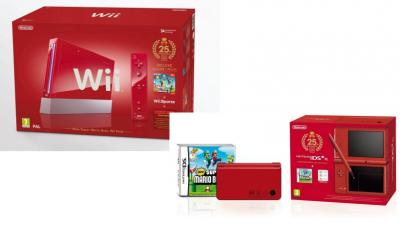 Edition rouge pour le 25ème Anniversaire Mario disponible sur Wii et DS XL