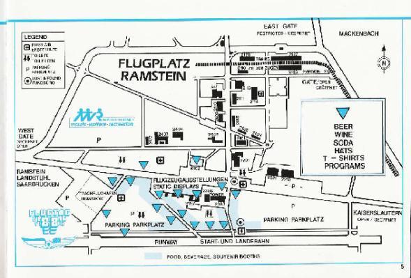 Plan de la base de Ramstein et du Flugtag