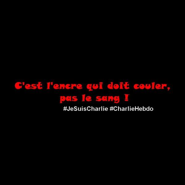 C'est l'encre qui doit couler, pas le sang ! #JeSuisCharlie #CharlieHebdo