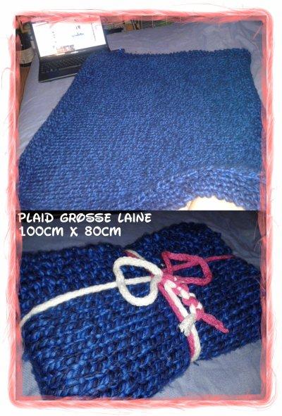 plaid grosse maille au tricot blog de sabrina et ses aiguilles. Black Bedroom Furniture Sets. Home Design Ideas