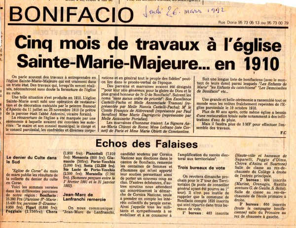 SAINTE MARIE MAJEURE : PROBLEMES RECURRENTS