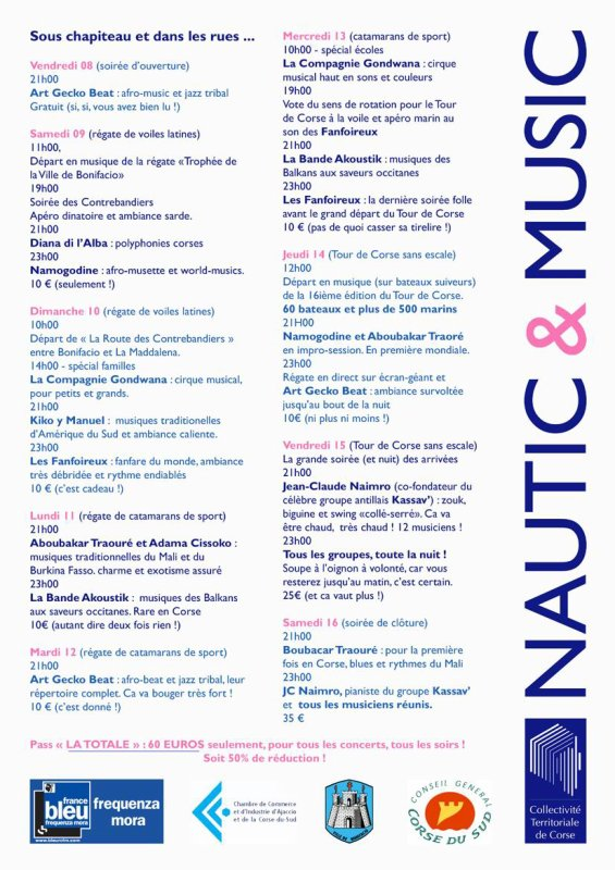 "ON PREPARE LA ""SEMAINE FESTIVE ""NAUTIC ET MUSIC"""