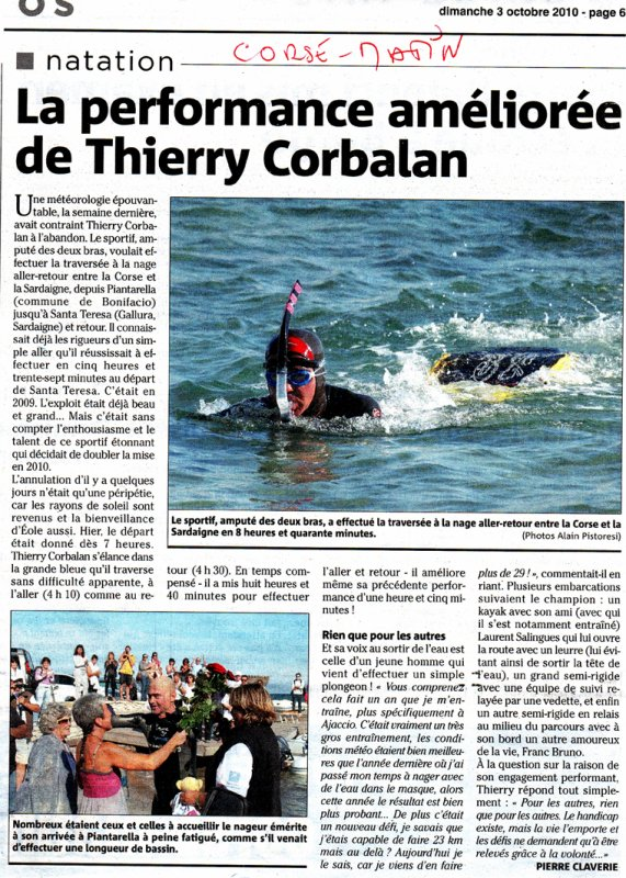 LA PERFORMANCE AMELIOREE DE THIERRY CORBALAN !