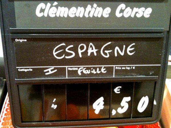 Cocasse: clémentine corse originaire...d'Espagne !
