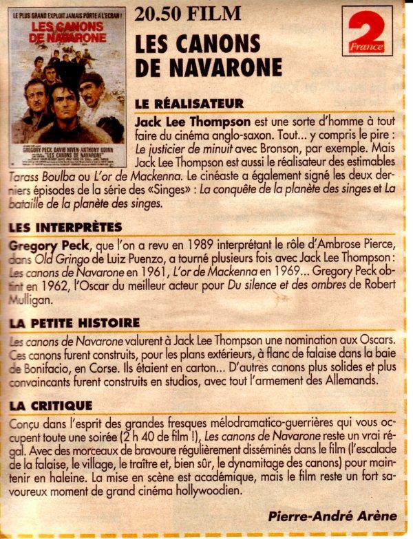LES CANONS DE NAVARONE (1961) : DES SEQUENCES A BONIFACIO ?