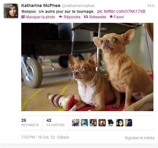 ▬ 12 Octobre 2012 ♦ Katharine McPhee en compagnie d'Anjelica Huston sur le tournage de Smash.