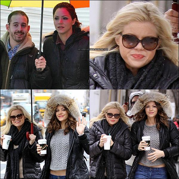 • 11 mars 2013▬ Megan & Katharine sur le tournage de SMASH.