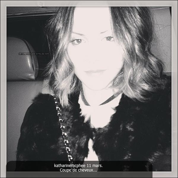 • 11 & 12 mars 2013▬ Instagram de Katharine.
