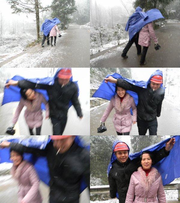 Un petit voyage dans un jour neigeux