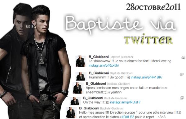 les twitts de Baptiste le 28octobre2oll