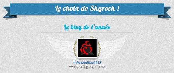 Vendéeblog2012 est Blog de l'année