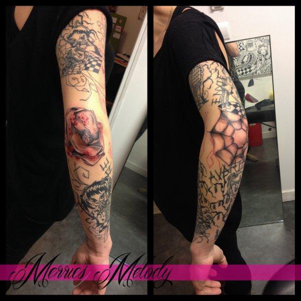 tatouage coquelicot tatouage toile d 39 araign merries melody tattoo shop 66. Black Bedroom Furniture Sets. Home Design Ideas