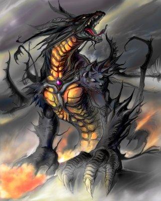 Les dragons noir.