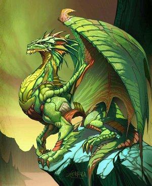 Les dragons vert.