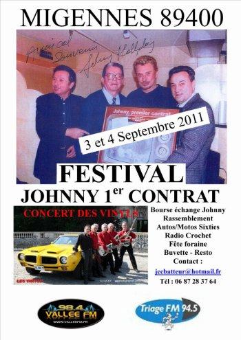 Festival Johnny Hallyday 1er Contrat à MIGENNES (89)