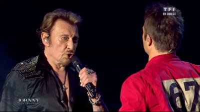 Johnny Hallyday en duo avec David Hallyday Live Bercy
