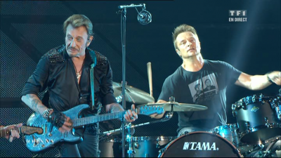 Johnny Hallyday accompagné de David Hallyday Live Bercy