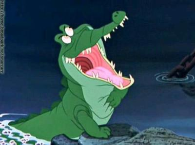 Le crocodile ooo pour tous les fans de walt - Peter pan et capitaine crochet ...