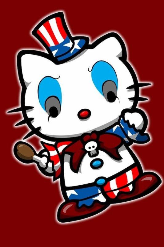 kitty en clown