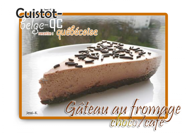 Gâteau au fromage choco / café