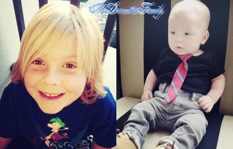 Mercredi, Tori a posté deux photos de ses fiston adorés sur son site. Finn a tellement grandit ! Il est magnfique *__* Liam est a croqué !