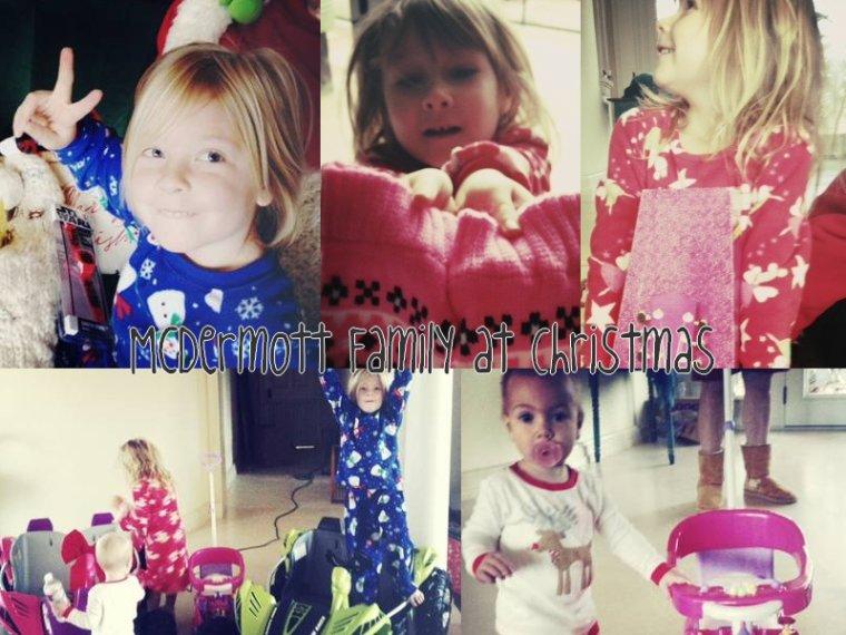 Hier Tori a postée des photo et une vidéo de sa famille le jour de Noel ! Hattie est trop chou dans les bras de Jack, les enfants ont vraiment été gatés ! J'aime bien l'idée d'avoir chacun sa hotte du pere Noel personnalisée. Liam & Stella on eu un quad chacun ! ahaha . Leur oncle Mehren était aussi présent.
