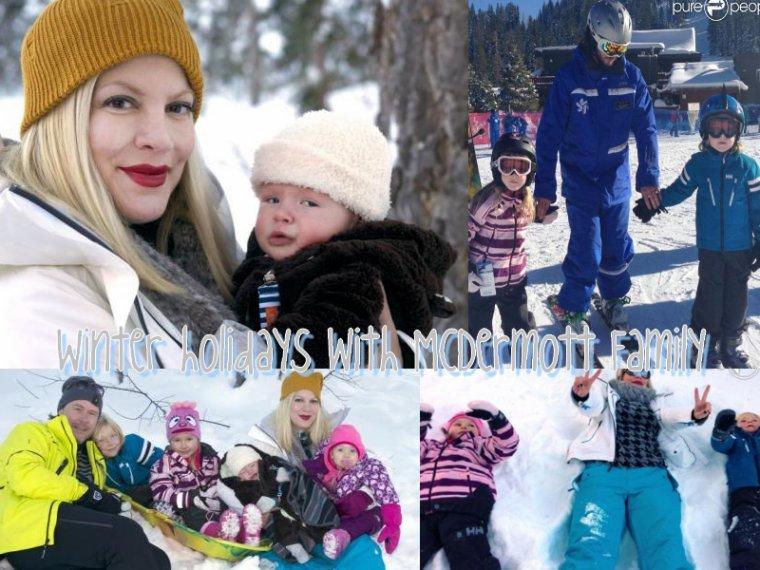 Voici des photos des vacances à la neige des McDermott !!!! Ils se sont trop éclatés, j'aime beacoup la photo ou ils sont tous les 6 ! Dommage que Jack n'était pas là ... Hattie est vraiment trop chou ! On peu voir la petite bouille de Finn ! Hattie,Liam & Stella ont fait de la luge . Liam & Stella ont aussi fait du ski avec Dean.
