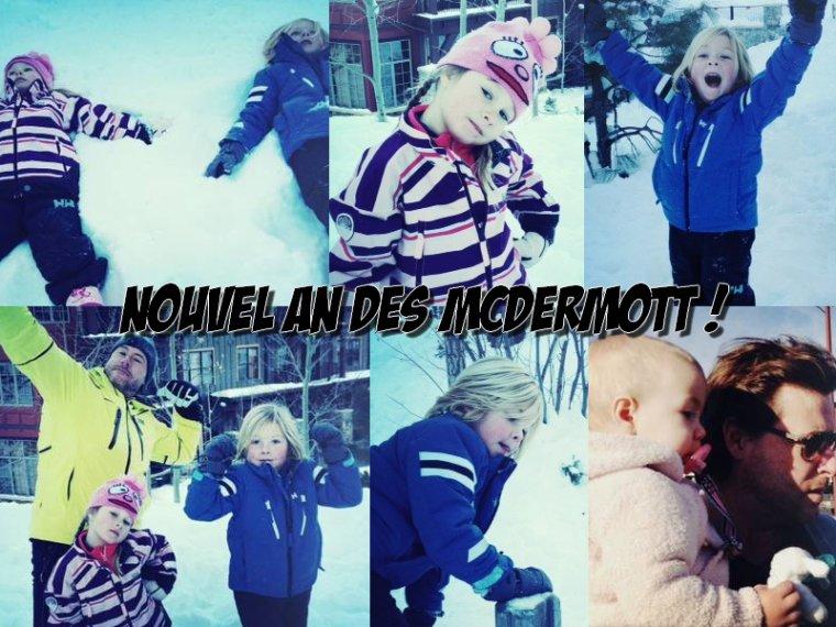Voici les photos du nouvel an des McDermott, ils ont passé leur nouvel an dans les montagnes ! Hattie est juste trop mimi *___*