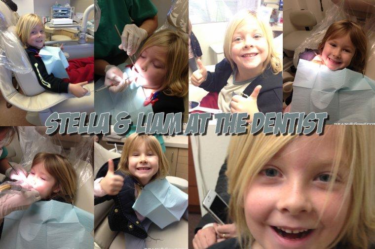 Le 14 janvier,Tori et Dean ont emmené leurs ainés chez le dentiste ! Voici des photos de la sortie + des photos prises par Dean dans le cabinet, Stella & Liam sont très courageux !