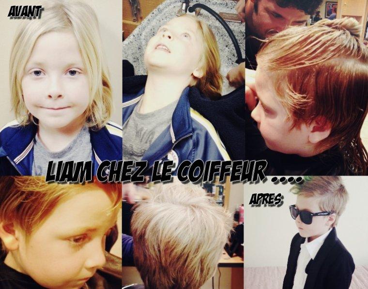 Comme je vous l'avais dit précédement Liam s'est coupé, les cheveux. Au début Tori n'étais pas très chaud mais elle a fini par accepter. Voici la vidéo et les photos de Liam chez le coiffeur.