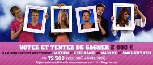 Bastien, Stéphanie, Maxime et Anne-K sont nominés cette semaine