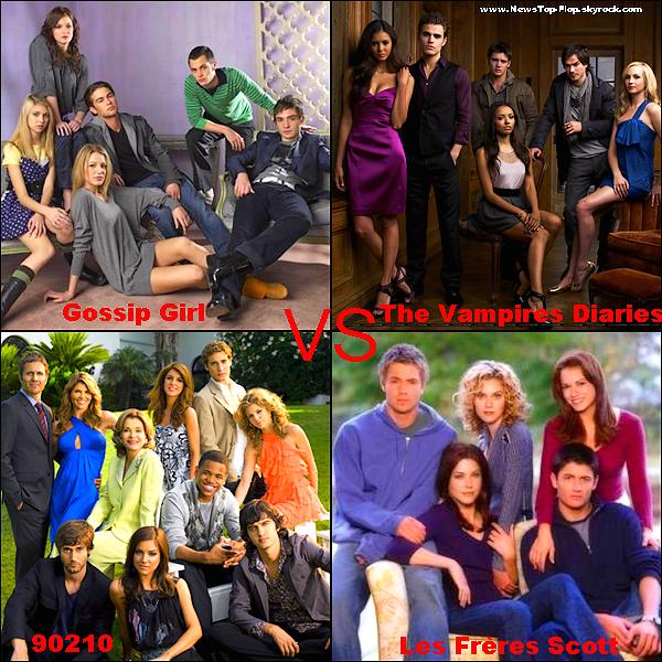 NewsTop-Flop    Quelle est ta série préférée ?   NewsTop-Flop     Perso je préfére Gossip Girl & The Vampire Diaries ♥    NewsTop-Flop