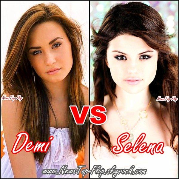 NewsTop-Flop    Vous préférez Demi Lovato ou Selena Gomez ?  NewsTop-Flop      Perso je préfére Selena Gomez :)   NewsTop-Flop