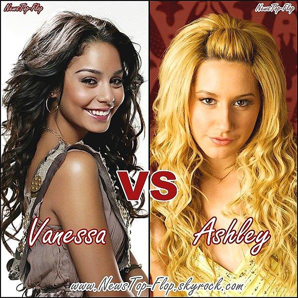 NewsTop-Flop    Vous préférez Vanessa Hudgens ou Ashley Tisdale ?  NewsTop-Flop      Perso je préfére Vanessa Hudgens !   NewsTop-Flop