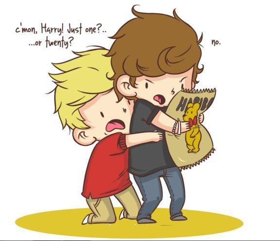Niall est puni de bonbons...