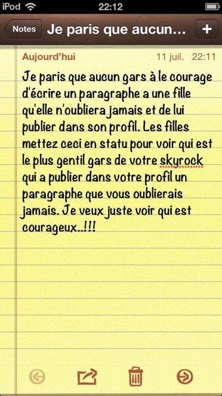 t'es courageux ?!